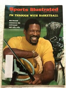 1969 Sports Illustrated BOSTON Celtics BILL RUSSELL Retires From Basketball