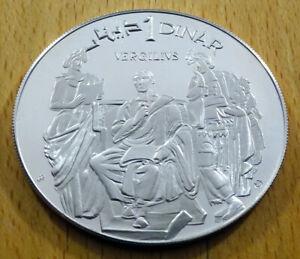 Tunesien - 1 Dinar - 1969 - Silber PP - 10 Jahre Verfassung / Virgil