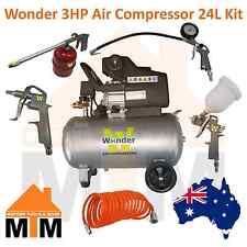 WONDER 3HP 240v Air Compressor 198L/min 24L + 5Pcs Air Tool Kit
