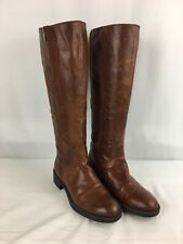 9a03234d18f FRANCO SARTO CAMEL BROWN LEATHER TALL RIDING BOOTS WOMEN SZ 6 M  GUC