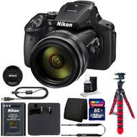 Nikon COOLPIX P900 16MP Digital Camera with 32GB Top Accessory Bundle