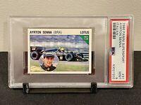 1986 Panini Supersport Italian Ayrton Senna RC Lotus Rookie Card PSA 9 MINT #31