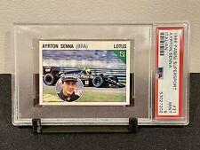 New listing 1986 Panini Supersport Italian Ayrton Senna RC Lotus Rookie Card PSA 9 MINT #31