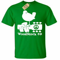 Woodstock T-Shirt Mens gift Present peace and music festival