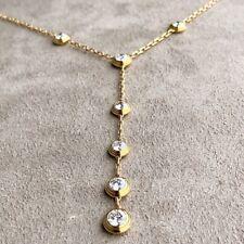 Cartier Bezel Set Diamond Necklace w/ logo - 18k Yellow Gold