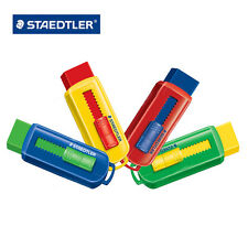 STAEDTLER ® ERASER W/ PUSH MECHANISM - PVC Free - Pack of 4 Assorted 525PS1S