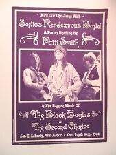 PATTI SMITH Poster Live At The Second Chance Ann Arbor