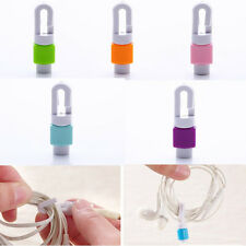 5pcs Protector Saver Cover for Smart Phone Lightning USB Charger Cable Cord DaU