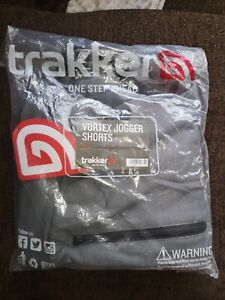 Trakker Vortex Grey Jogger Shorts NEW Men's Carp Fishing Shorts used carp tackle