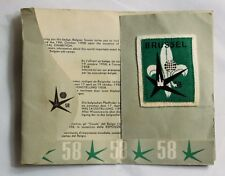 1958 BRUSSELS UNIVERSAL EXHIBITION BELGIAN SCOUT BADGE SUTTON PARK