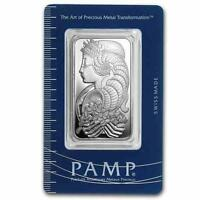 New 1oz Silver Pamp Suisse Fortuna Ingot Bar with integrated Assay Certificate