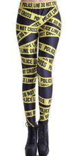 Woman's Police Do Not Cross Fun Halloween Gothic Workout Fitness Yoga Leggings