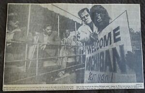1970 Newspaper Clipping Michigan Wolverines Tour Universal Studio WOLFMAN etc