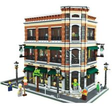 LEGO MOC Modular bookstore and starbuck-CUSTOM Model Instructions .PDF Manual