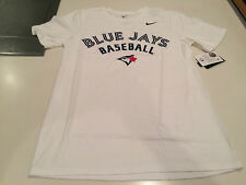 Toronto Blue Jays MLB Baseball Shirt Sleeves Practice T Shirt Men's White Small