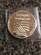 ENVIROMINT LOS ANGELES 94 WORLD CUP USA .999 SILVER COIN ROUND