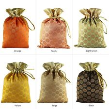 Favors Bag Potli Pouch 50 Gift  Brocade Art Silk Drawstring Small Christmas Bags