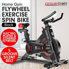 Powertrain Exercise Bike D20 Spin Home Gym Fitness Equipment - Black