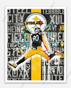 T.J Watt #90 MAGNET - Pittsburgh Steelers Nation Die Cut TJ Outside Line Backer