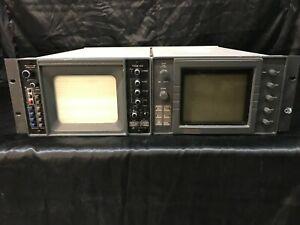 Videotek VSM-61 Vectorscope and TSM-60 Waveform Monitor w/ rackmount
