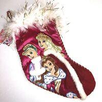NEW Disney Princess Christmas Stocking Belle Cinderella Aurora Sleeping Beauty