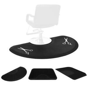 "1/2"" Salon Barber Shop Chair Anti-Fatigue Floor Mat Black Rectangle Beauty"
