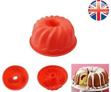 "*UK Seller* LARGE 9"" Silicone Bundt Swirl Ring Cake Baking Tin Mold Mould Pan"