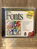 Galaxy Of Home Office Help Fonts Over 2600 PC CD ROM Brand New B490