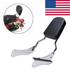 Motorcycle Flame Chrome Sissy Bar Backrest Pad Fit For Honda Shadow Spirit 750