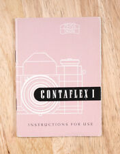 ZEISS CONTAFLEX I INSTRUCTION BOOK/203412