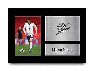 Mason Mount England Great Gift Idea Printed Autograph A4 Photo for Football Fan