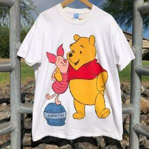 VTG 90s Winnie The Pooh Honey Piglet Disney Cartoon Full Big Print T Shirt XL