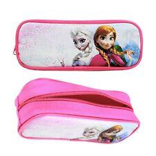 New Disney Frozen Elsa Anna Hot Pink Zipper Red Pen Pencils Case School Supplies