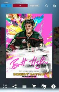 Topps Skate Inception Super Rare Barrett Hayton - DIGITAL CARD