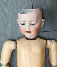 Antique German Bisque Hertel Schwab #152 Baby Doll Teeth Tongue Composite Body