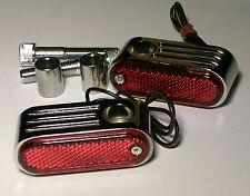 2 clignotant clignoteur moto chrome custom  bobber chopper bullet markerlight 2