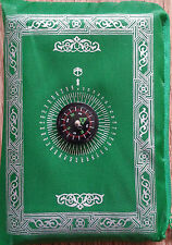 NEW POCKET TRAVEL PRAYER MAT RUG WITH QIBLA KAABA COMPASS IN POUCH LOT
