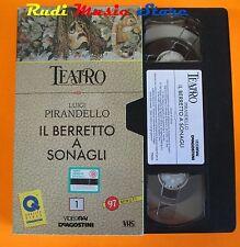 film VHS TEATRO LUIGI PIRANDELLO IL BERRETTO A SONAGLI 1970 (F15)  no dvd