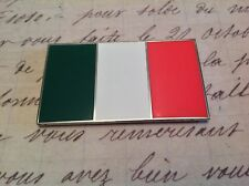 ITALY ITALIAN CAR BADGE FLAG WITH 3M S/A  CLASSIC CAR