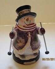 Thomas Kinkade Figurine - Holiday Spirit Snowman New Item 1513888013 COA