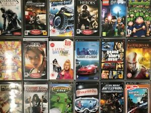 Sony PSP - Lots of titles available - All tested - Boxed with Instructions