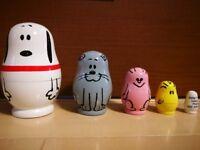 Snoopy Museum Tokyo Limited Matryoshka PEANUTS Toy Interior Dolls Kawaii