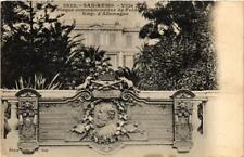 CPA San Remo Villa Zirio-Plaque commémoratif de Fréderic III. ITALY (523838)