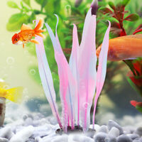 Aquarium Decor Silicone Kelp Plant Artificial Water Grass for Fish Tank 18cm