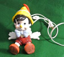 vintage Pinocchio Porcelain Lamp Figure Walt Disney Schmid nightlight works