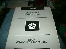 1999 DODGE NEON PLYMOUTH NEON BODY DIAGNOSIS FACTORY SHOP SERVICE MANUAL OEM