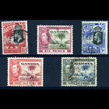 GAMBIA Selection. 5 Values. Condition Varies. (BH074)