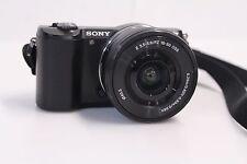Sony Alpha ILCE-5000 20.1 MP Mirrorless Camera Bundle:16-50mm Lens Battery Strap