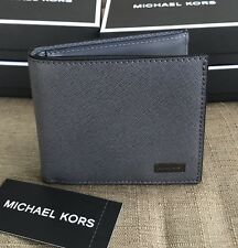 MICHAEL KORS MEN'S ANDY SAFFIANO LEATHER  BILFOLD WALLET WITH ID PROTECTION