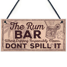 Alcohol Signs For Garden Shed SummerHouse Rum Gift Kitchen Wall Plaque Bar Sign